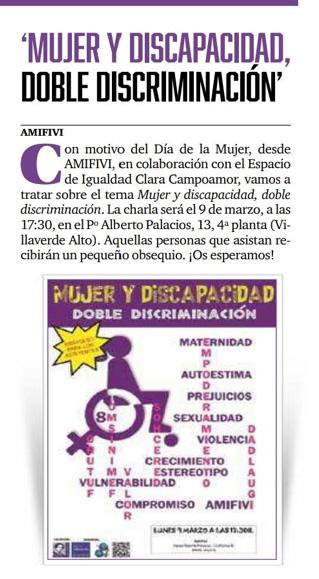 Mujer y discapacidad (Amifivi)
